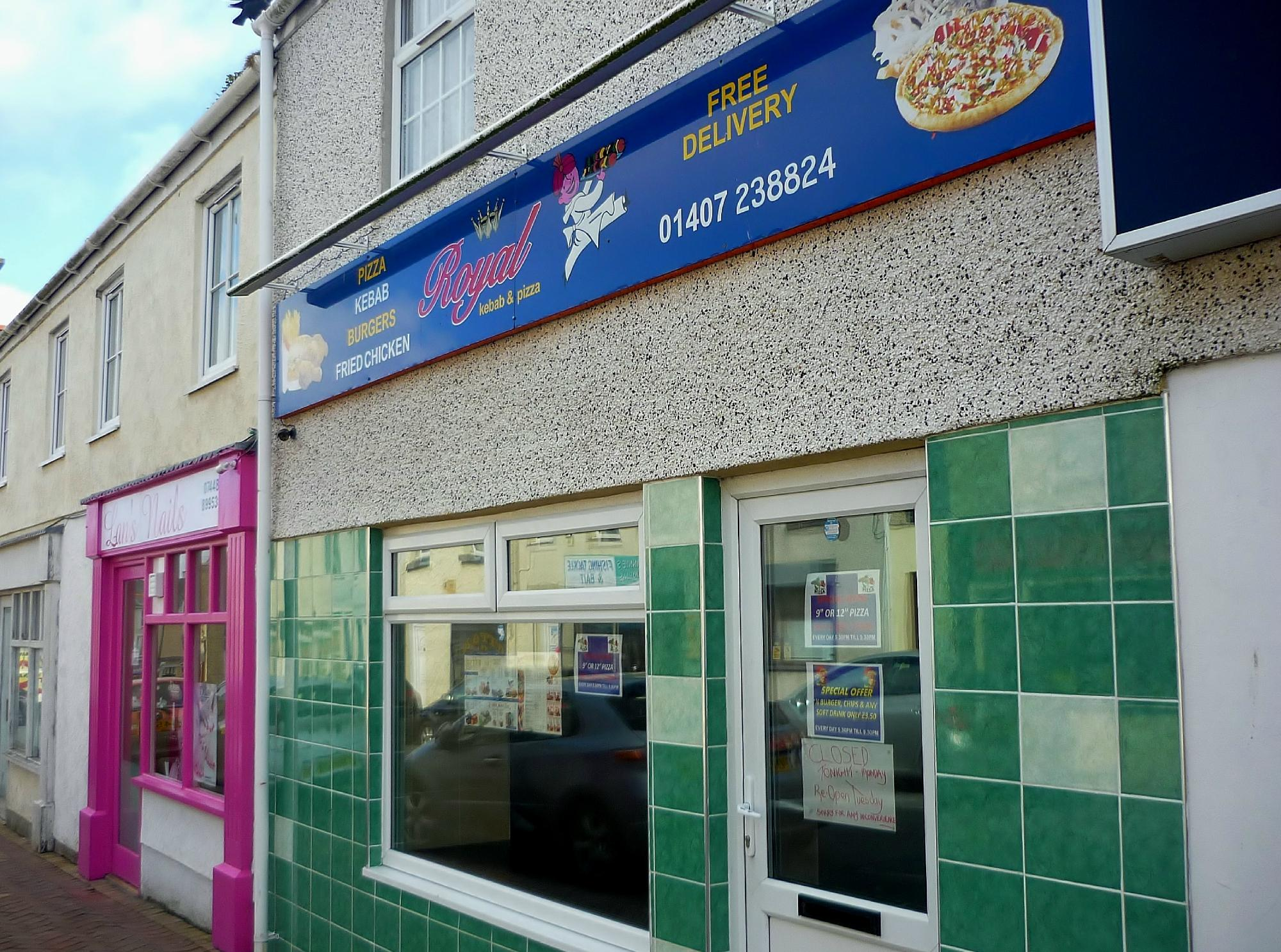 Royal Kebab Pizza In Holyhead Original Menus Reviews And