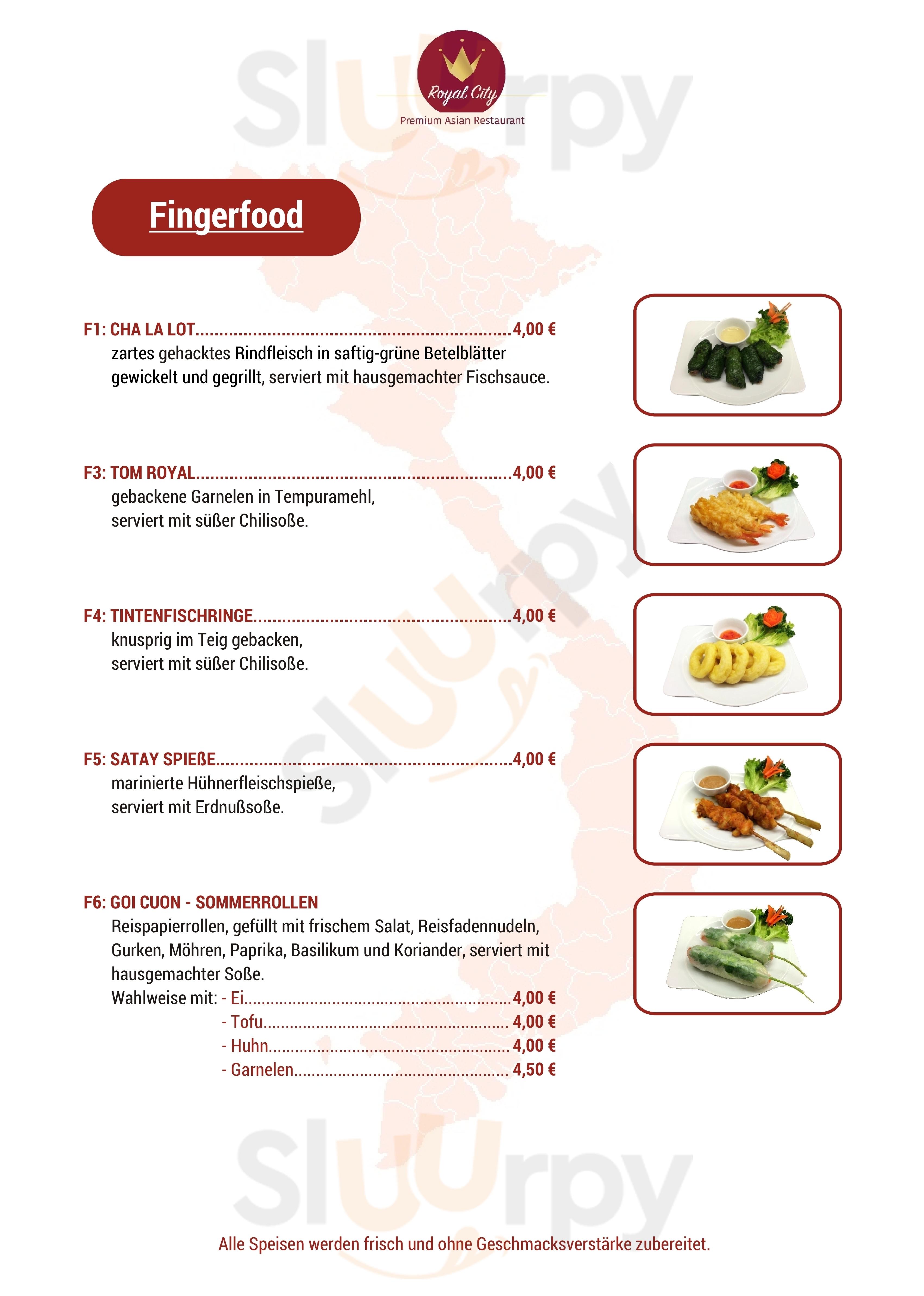 Restaurant Royal City Hannover Menu - 1