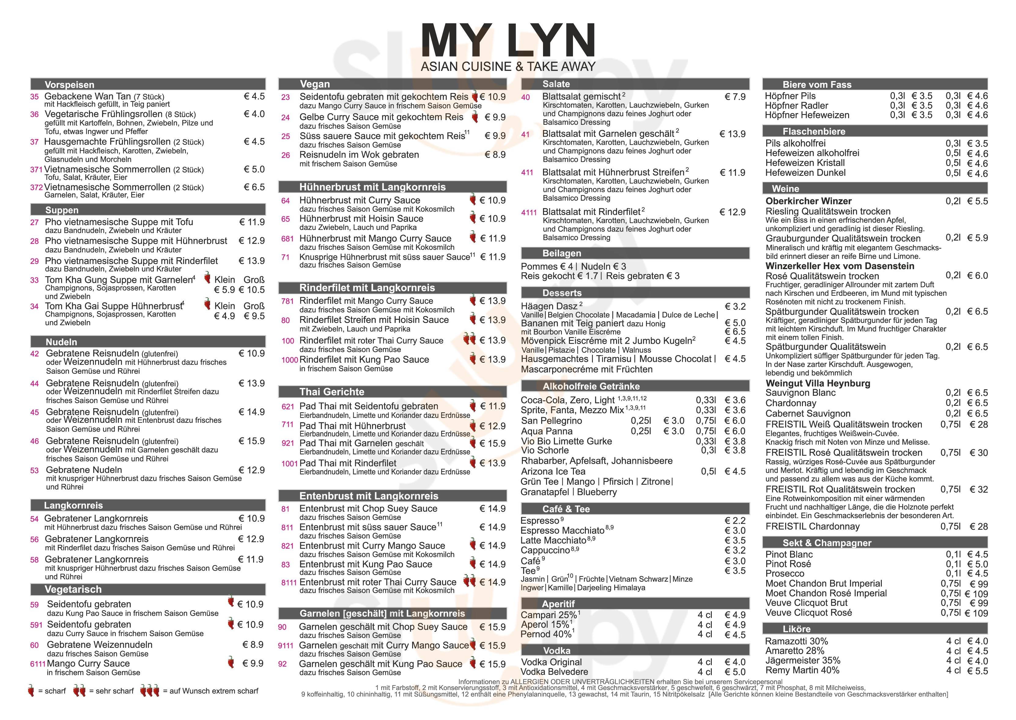 My Lyn Baden-Baden Menu - 1