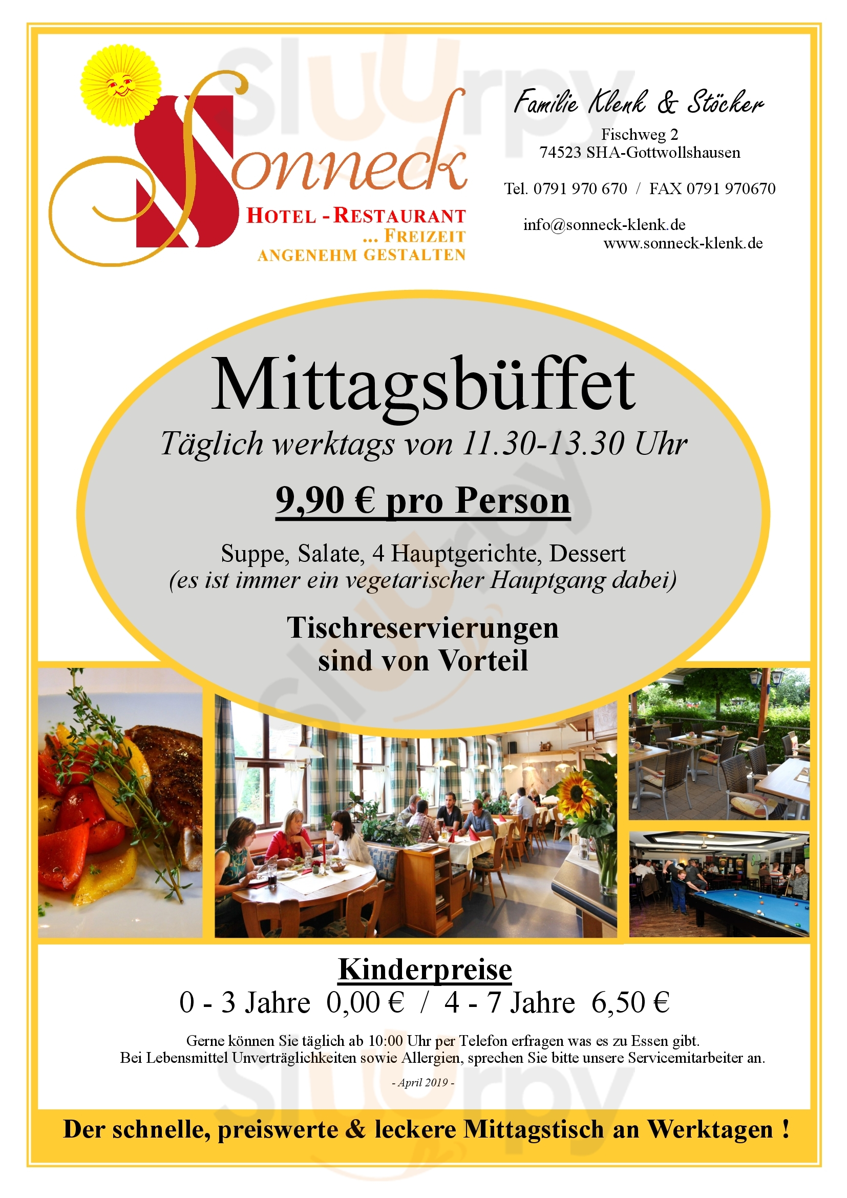 Sonneck Restaurant Schwäbisch Hall Menu - 1