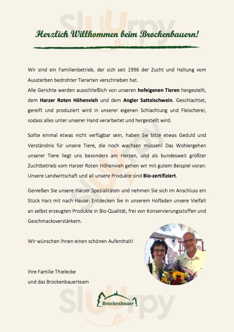 Brockenbauer Thielecke Tanne Menu - 1