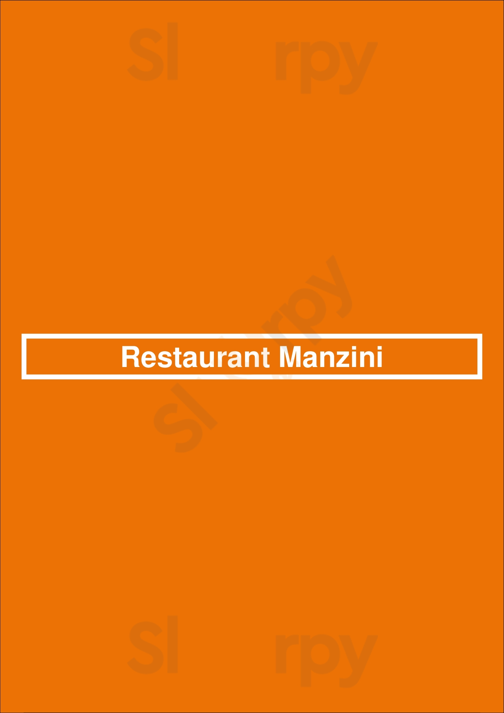 Restaurant Manzini Berlin menù - pagina 1