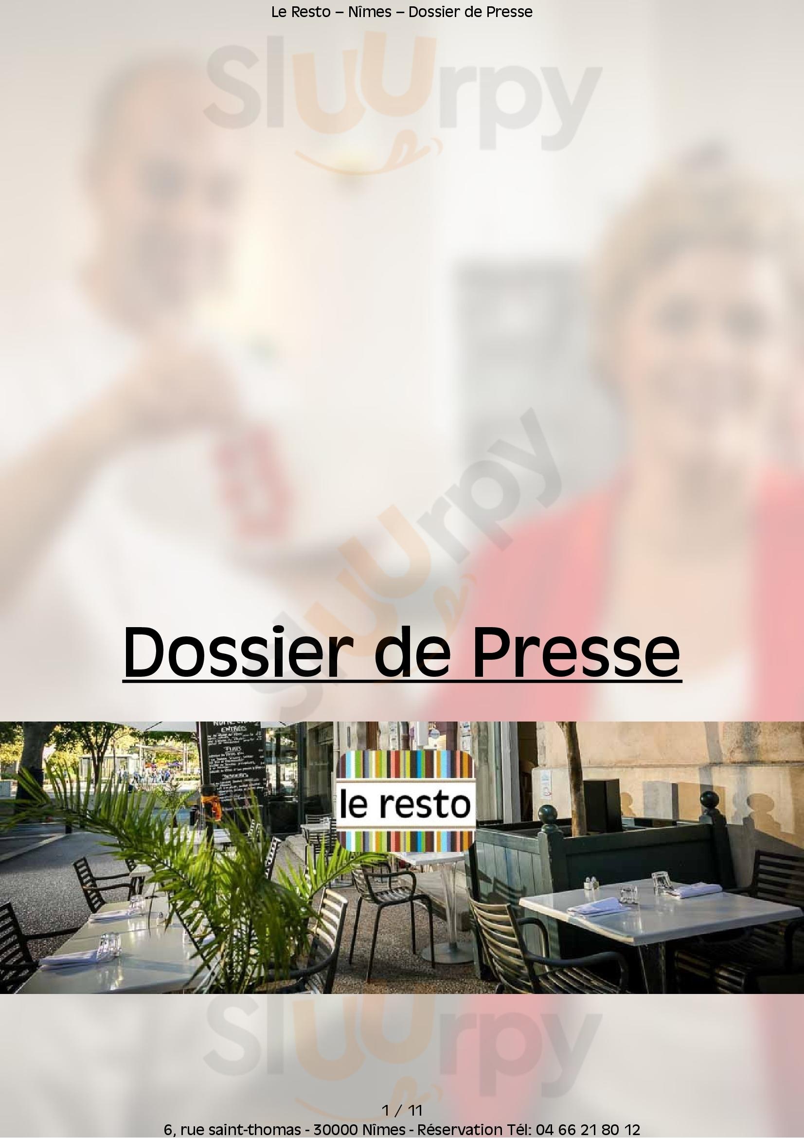 Le Resto Nîmes Menu - 1