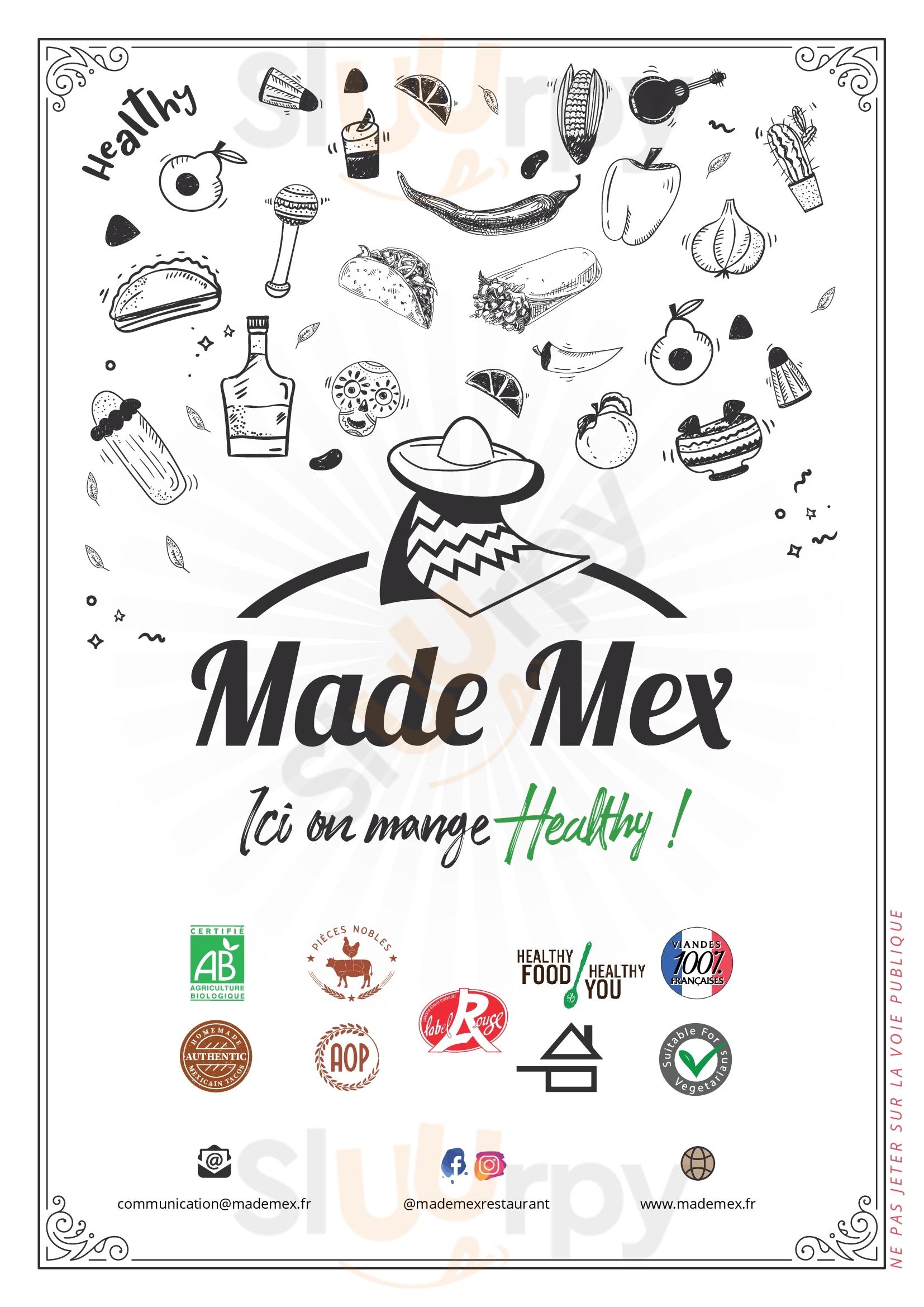Made Mex Vélizy-Villacoublay Menu - 1