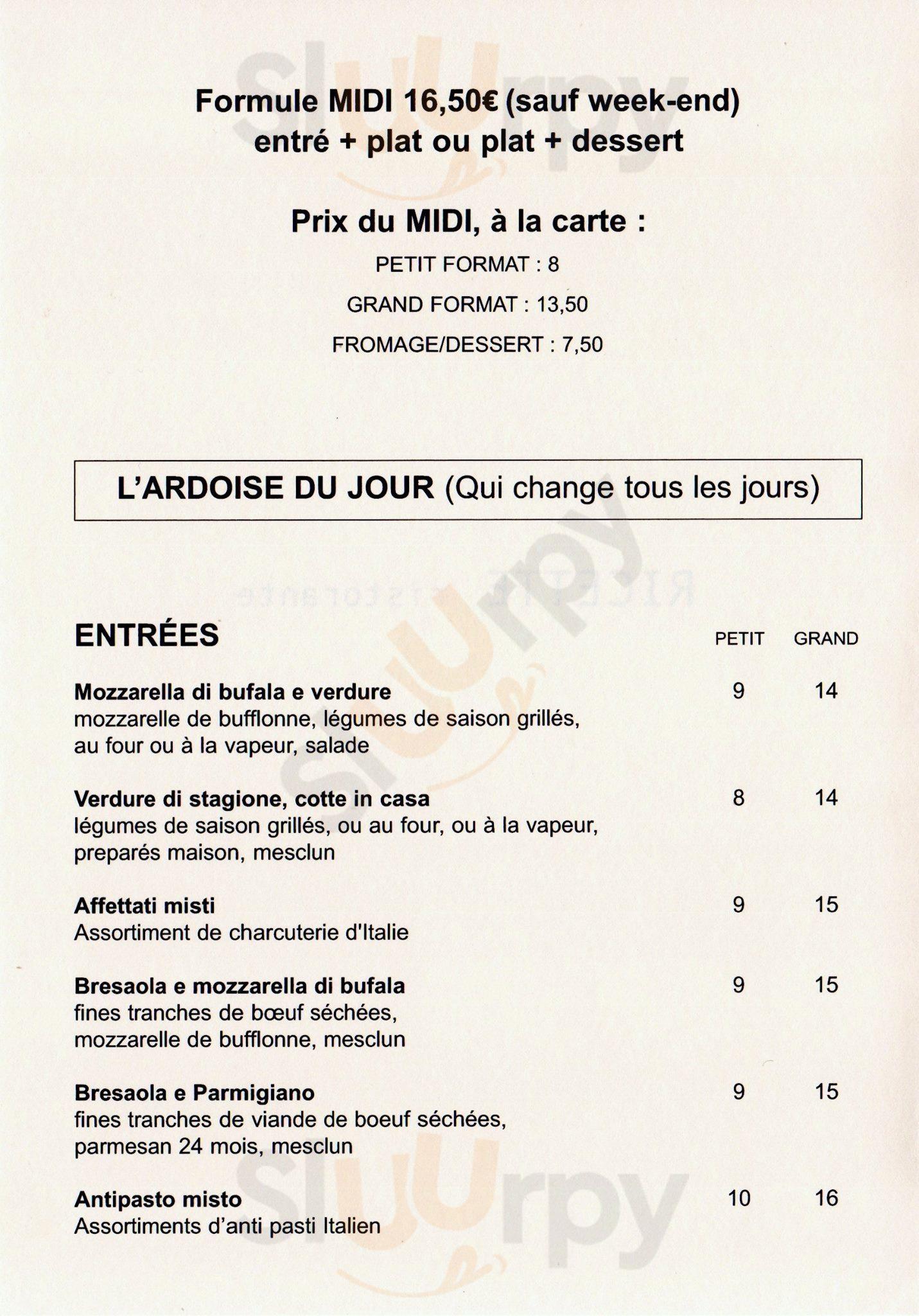 Ricette Ristorante Paris Menu - 1