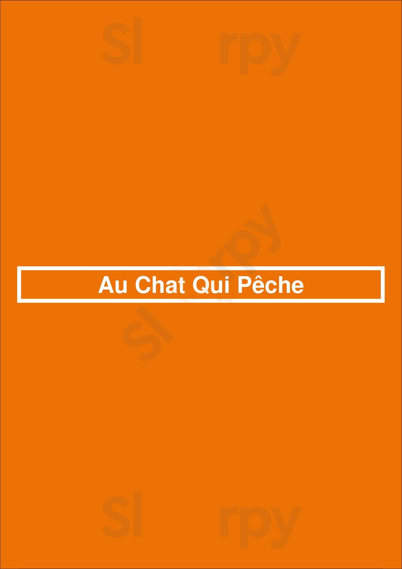 Au Chat Qui Pêche Paris Menu - 1