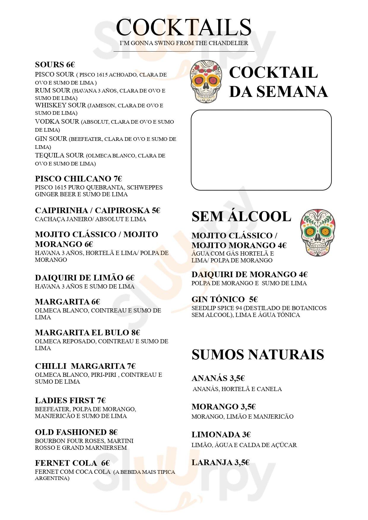 El Bulo Social Club Lisboa Menu - 1