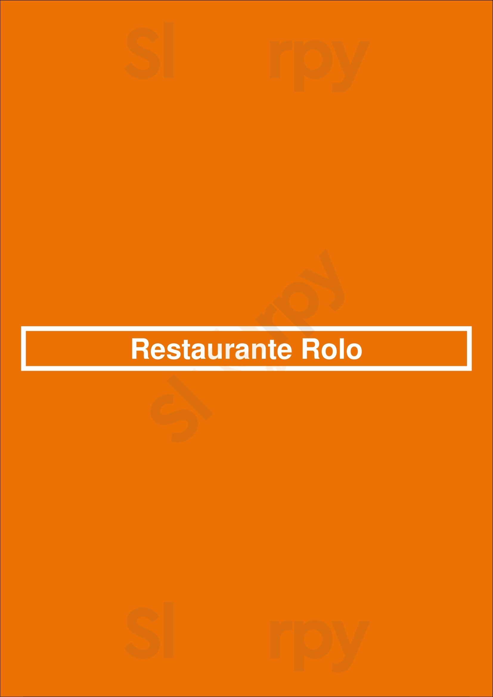 Restaurante Rolo Lisboa Menu - 1