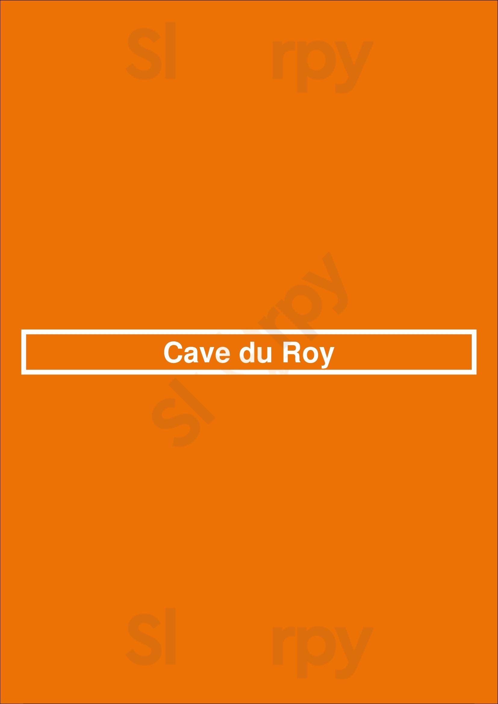 Cave Du Roy Bruxelles menù - pagina 1