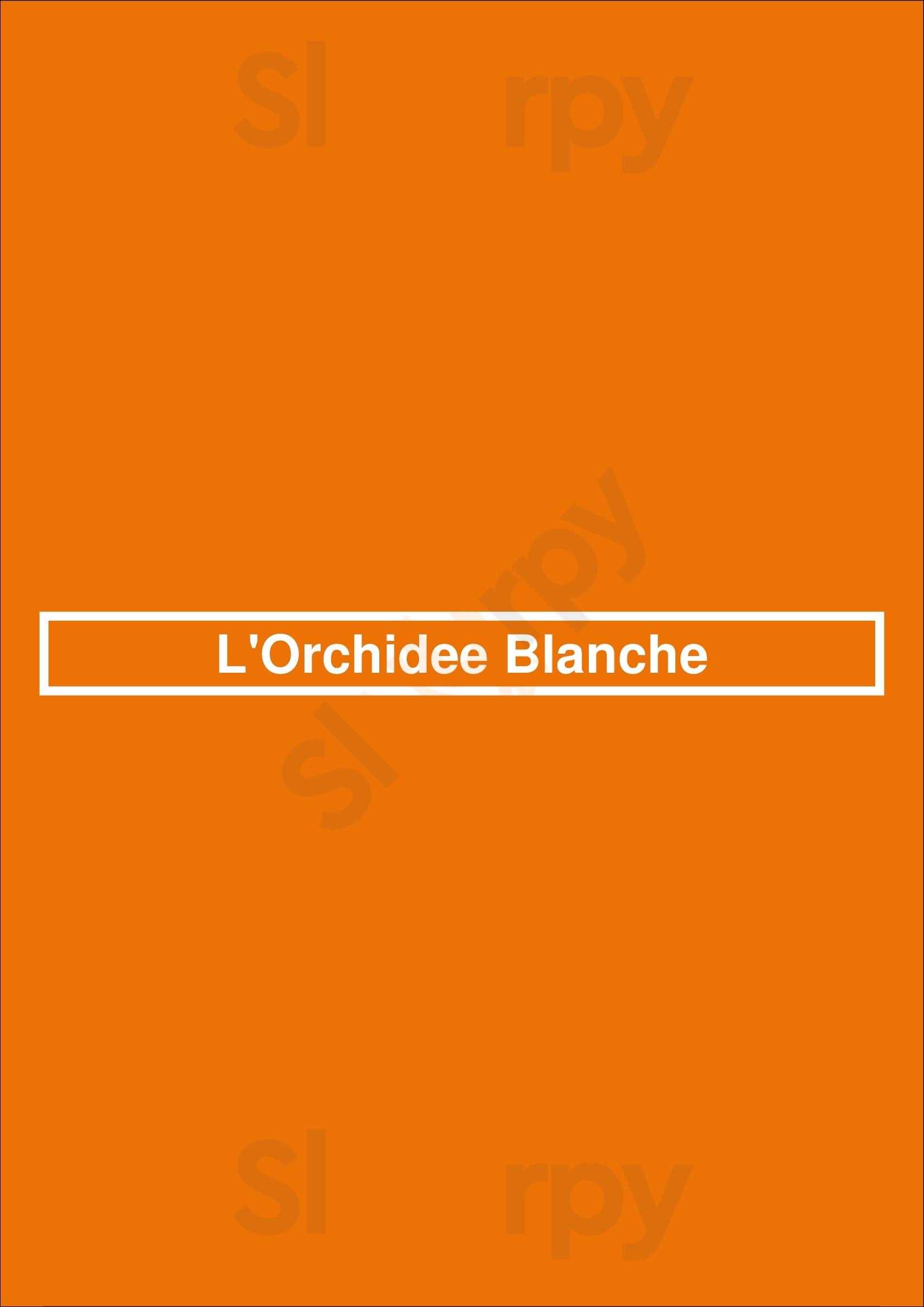 L'orchidee Blanche Bruxelles Menu - 1
