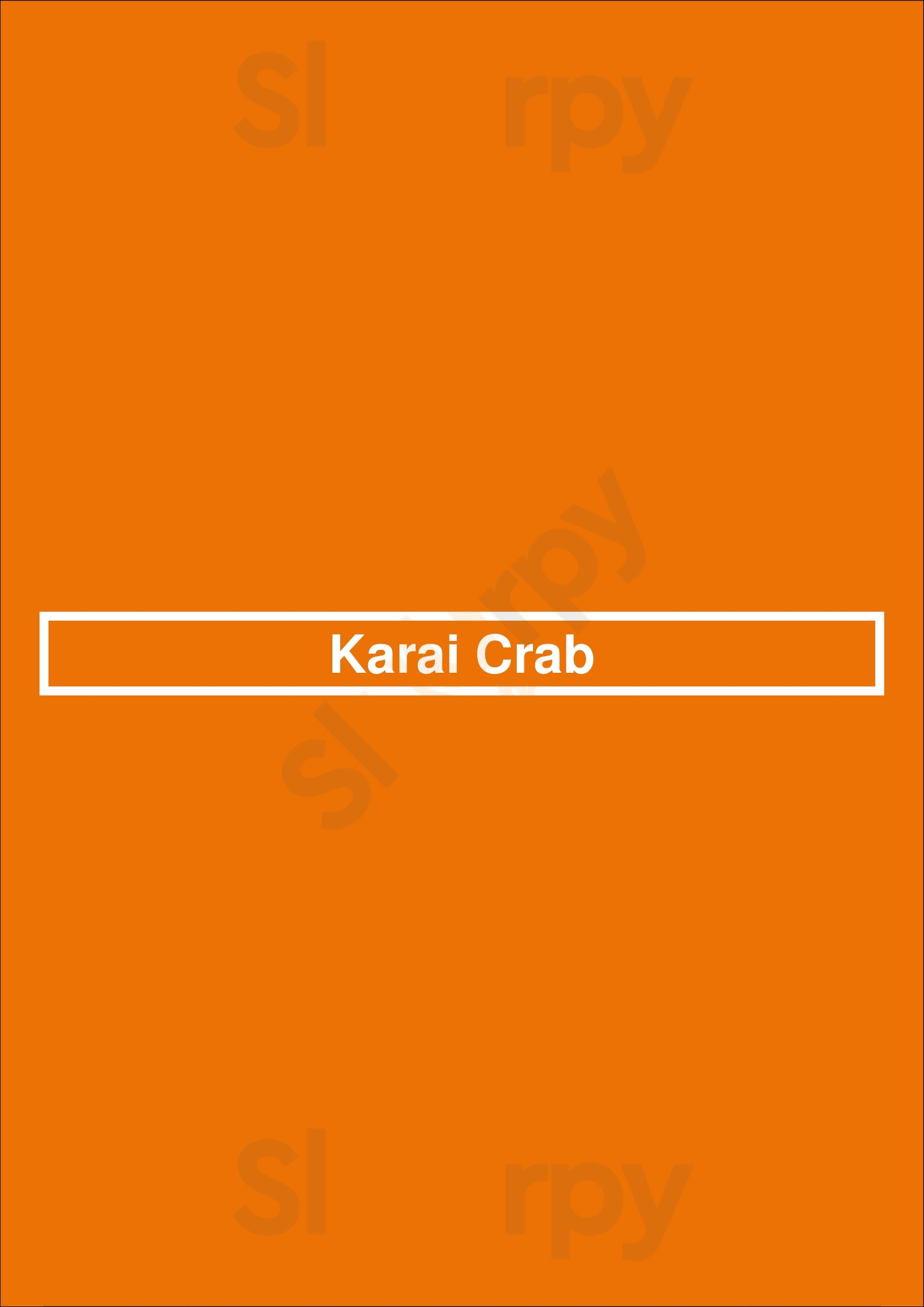 Karai Crab Honolulu Menu - 1