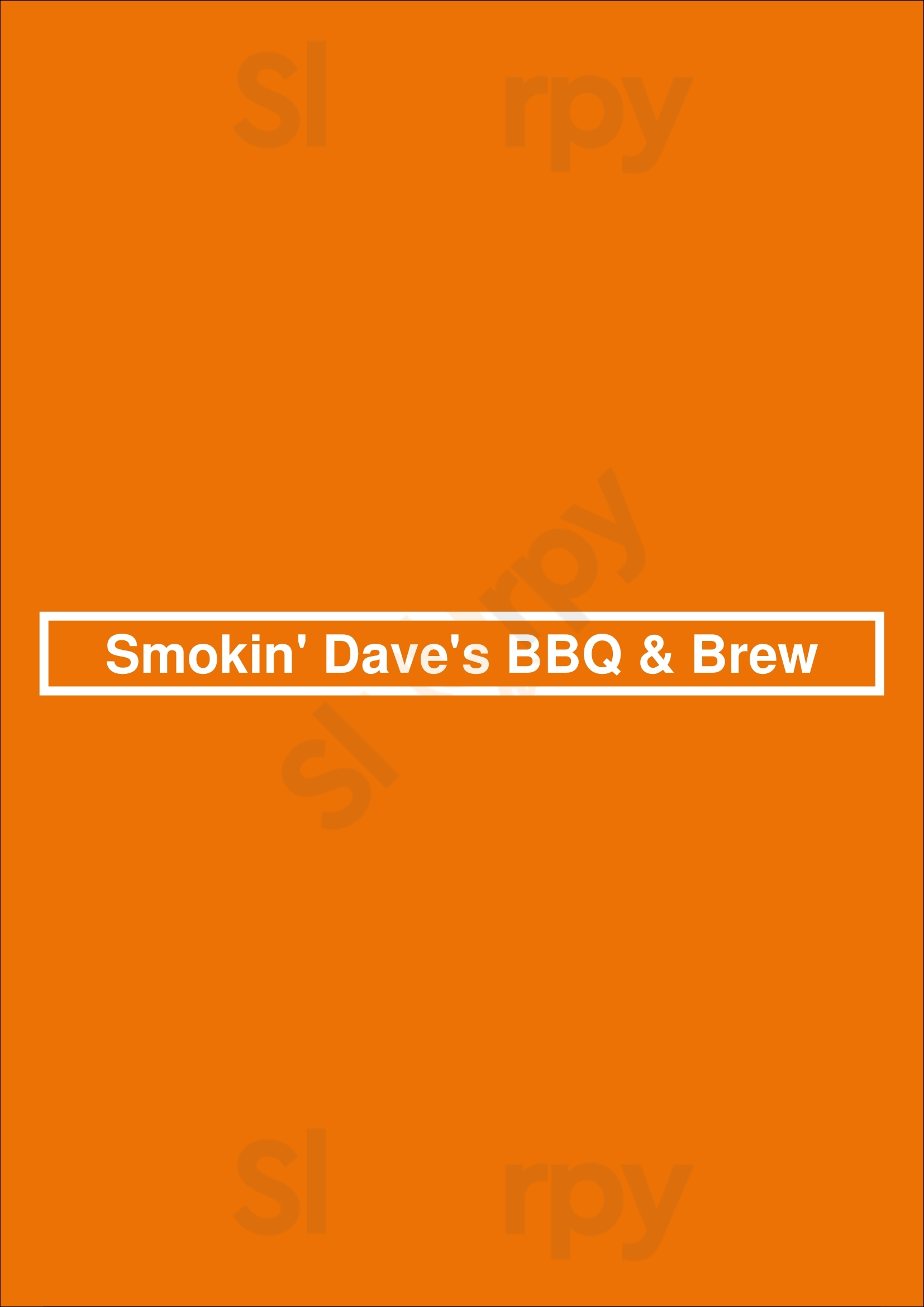 Smokin' Dave's Bbq & Brew Denver Menu - 1