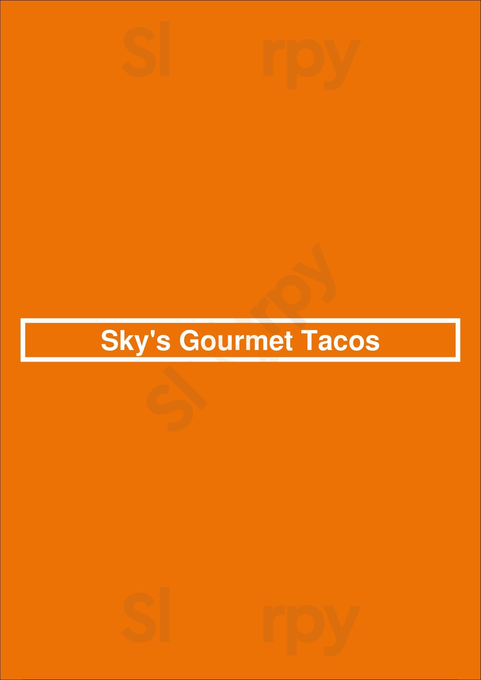 Sky's Gourmet Tacos Los Angeles Menu - 1