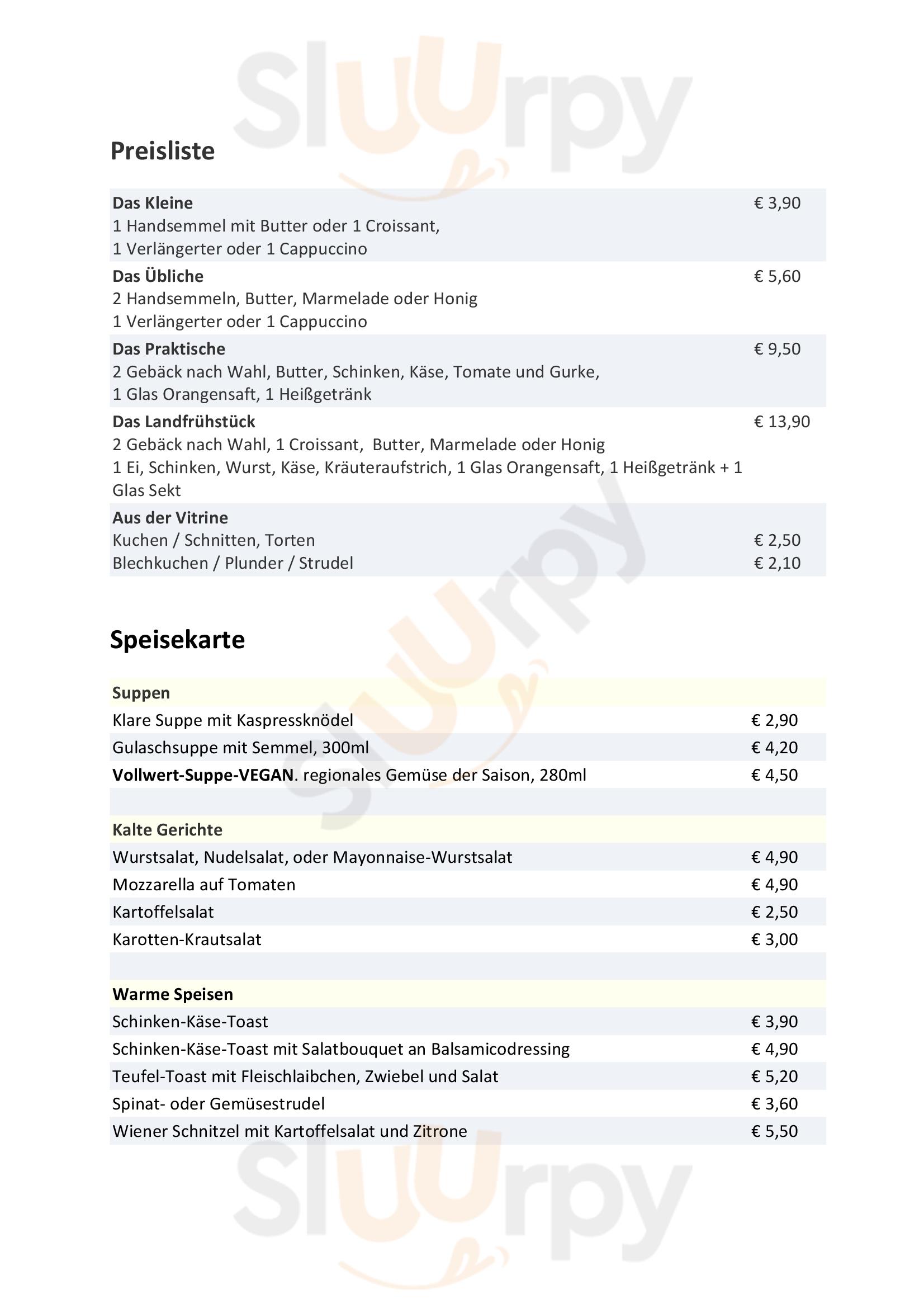 Elixhausener Landbäckerei Salzburg Menu - 1