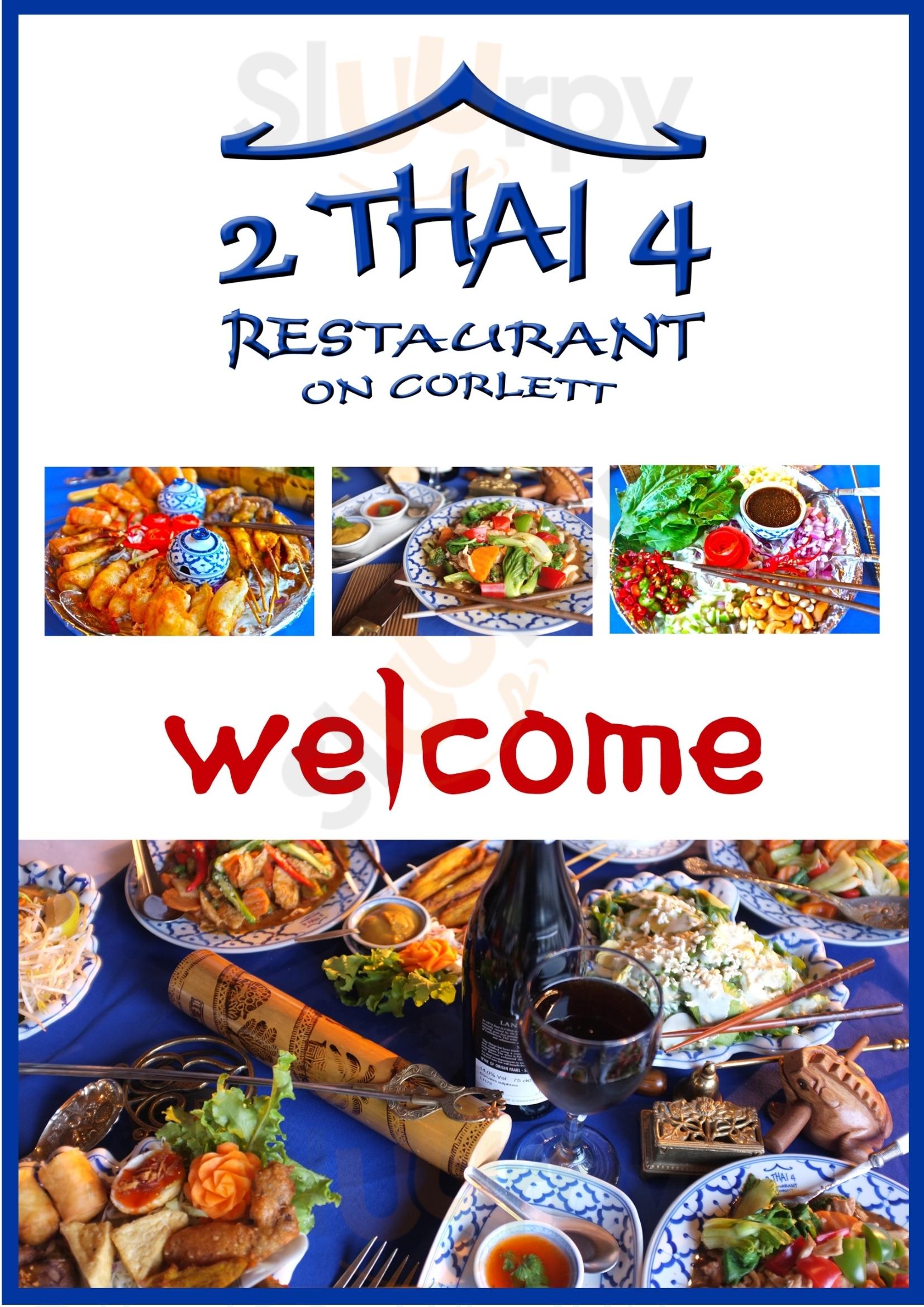 2 Thai 4 Restaurant Johannesburg Menu - 1