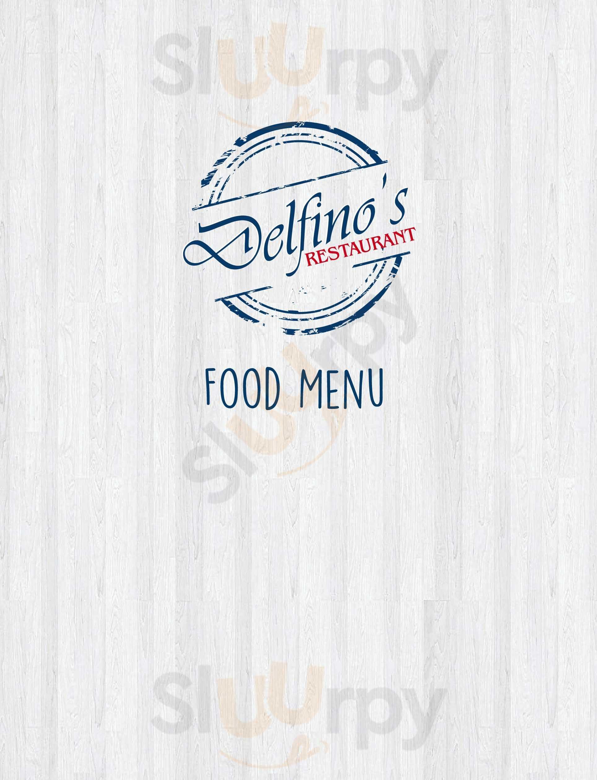Delfino's Restaurant Mossel Bay Menu - 1
