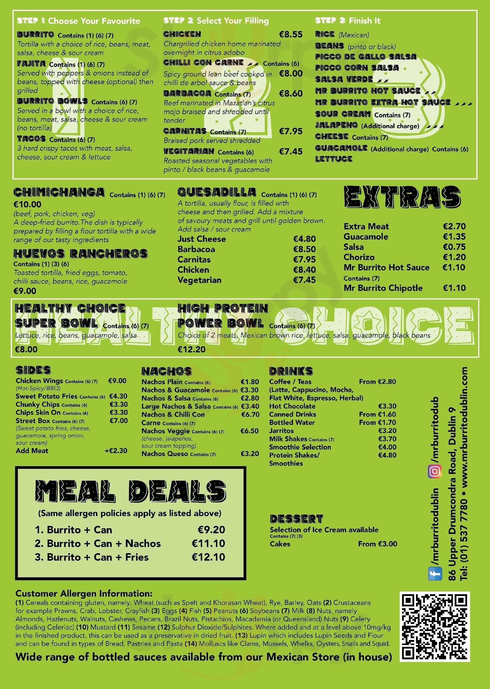 Mr Burrito Dublin Menu - 1