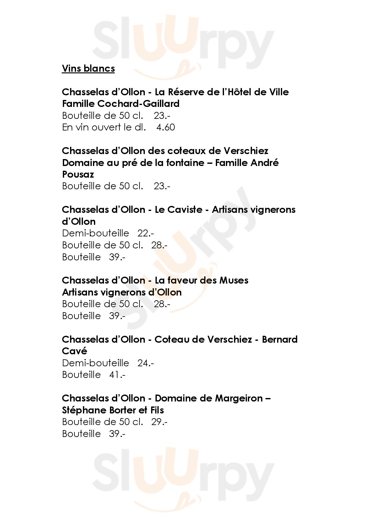 Hôtel De Ville D'ollon Ollon menù - pagina 1