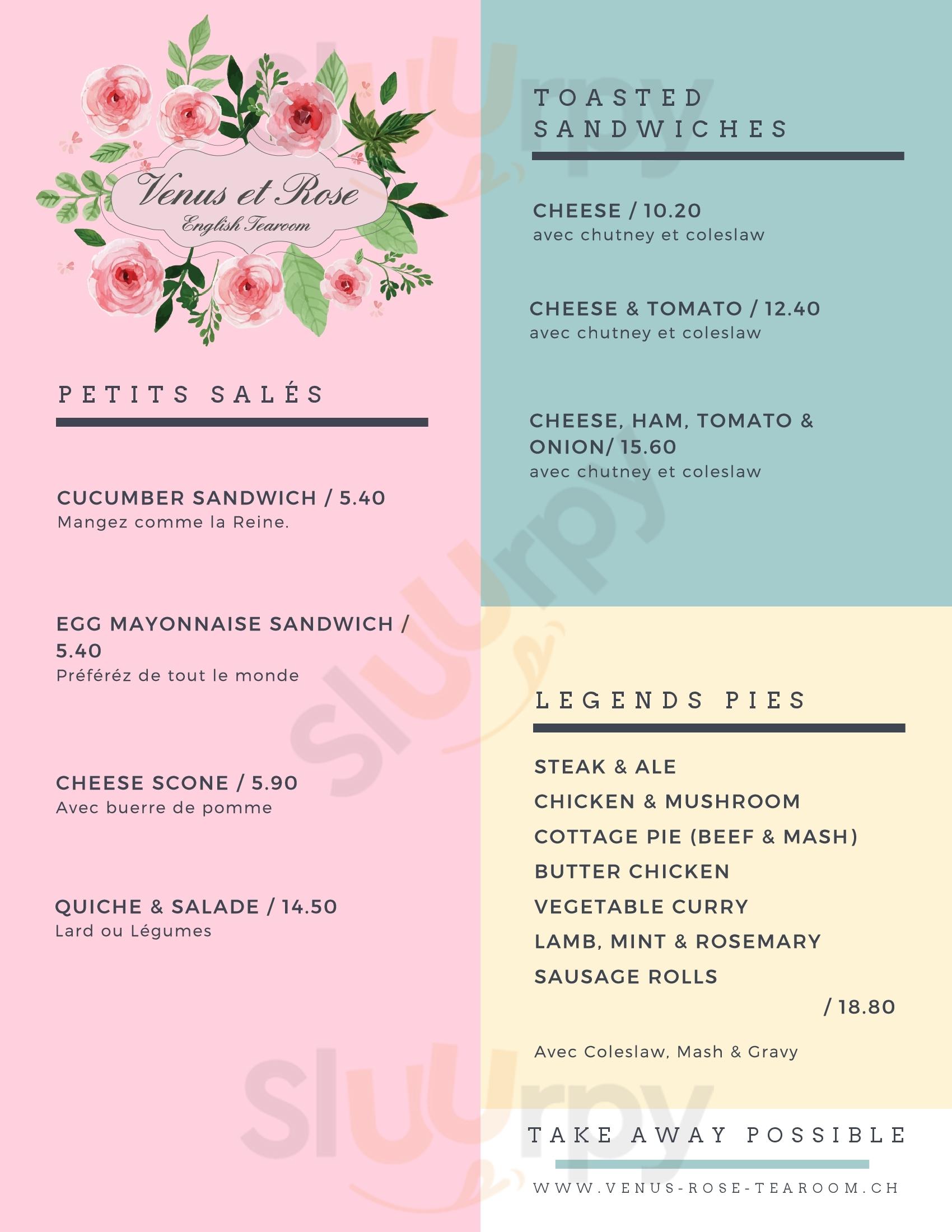 Venus Et Rose English Tearoom Ollon menù - pagina 1